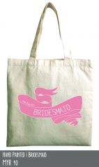 Bridesmaid cotton tote