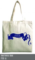 Bride cotton tote