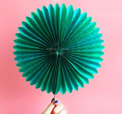 Paper Pinwheel Fan | wedding decor, party, diy
