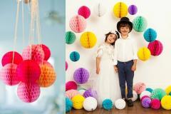 Honeycomb Balls | Backdrop