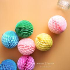 Candy-colored Honeycomb Balls | Wedding, Party, Birthday decoration